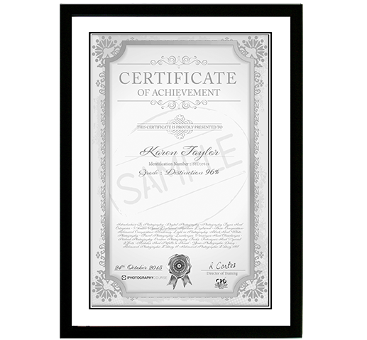 online photography course certificate