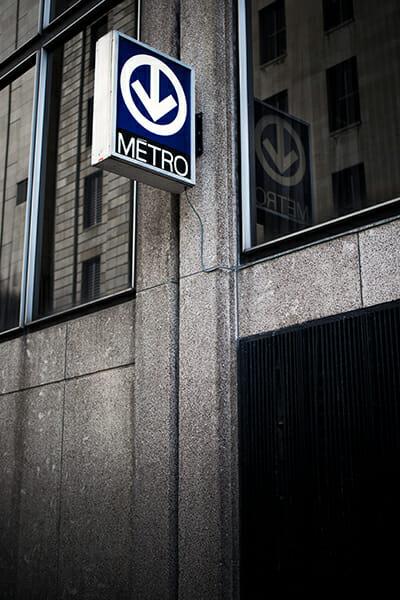 metro sign sharp photographs