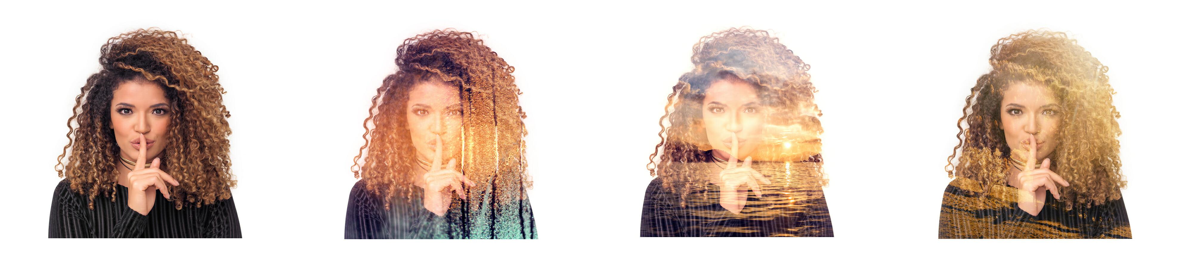 iphotography multiple exposure female