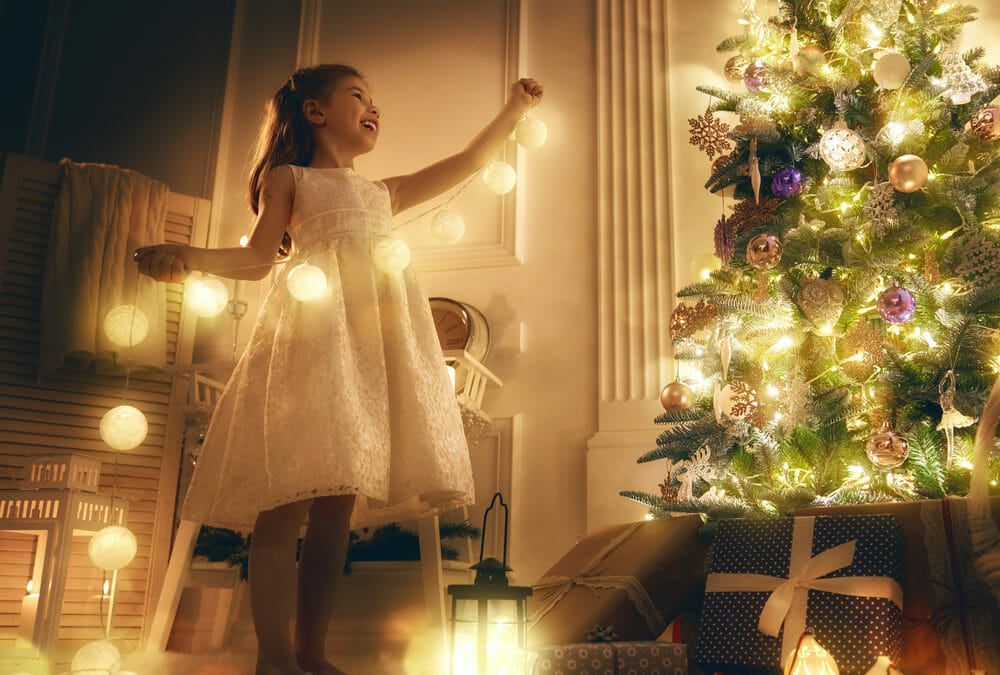 Photographing Fairy Lights at Christmas