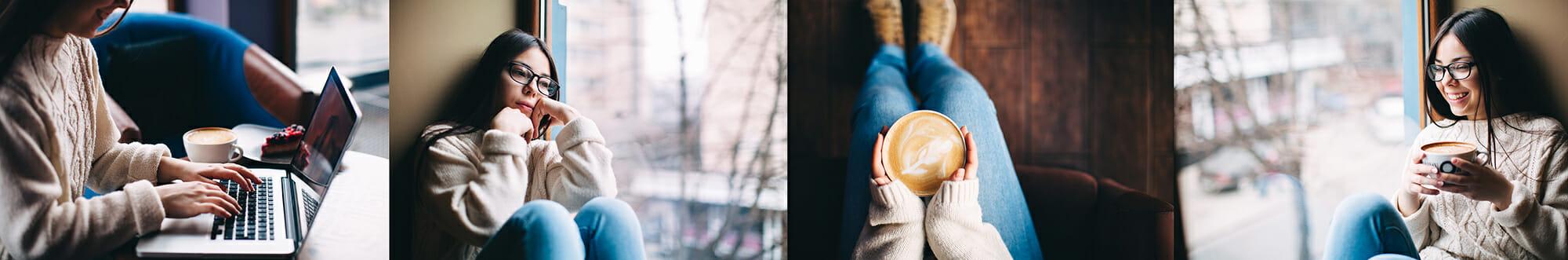 portrait photography ideas girl coffee shop teenager window moody
