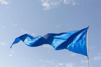 flag blue freeze sky wave