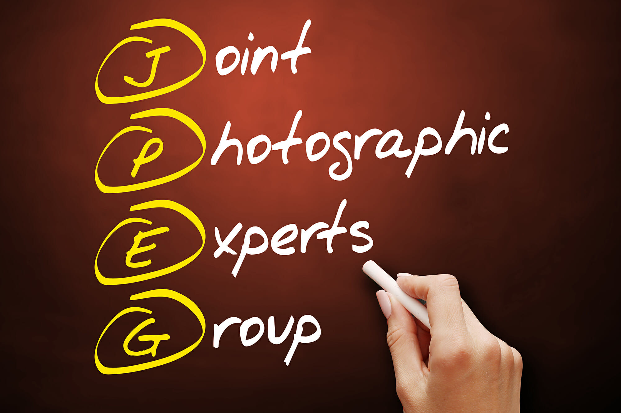 jpeg joint photographic experts group chalk hand chalkboard