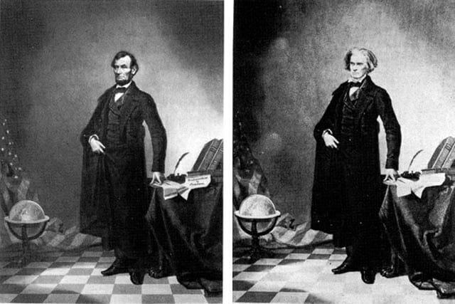 Iconic:  Abraham Lincoln by Thomas Hicks (1860) /  John Calhoun by Thomas Hicks (1852)