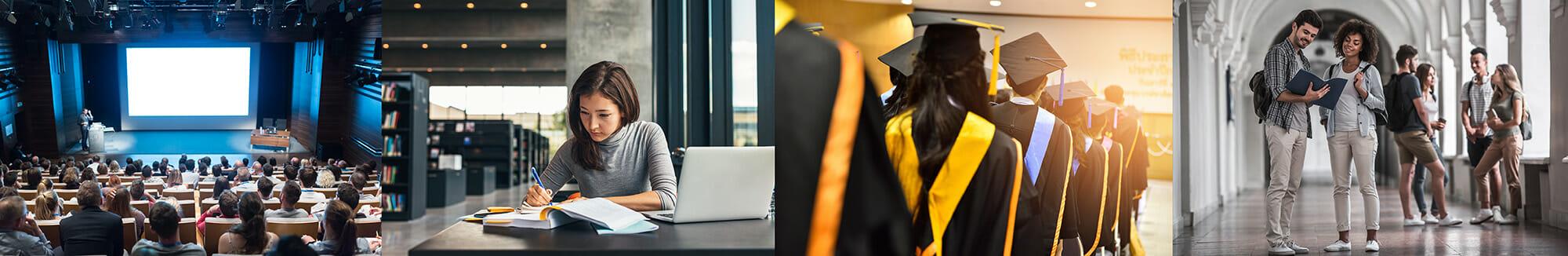 college degree graduation studying university