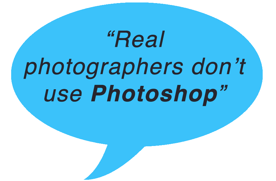 real photographers photoshop iphotography speech bubble