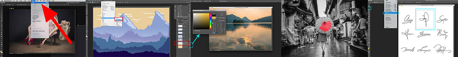 iPhotography Photoshop Tutorial Images
