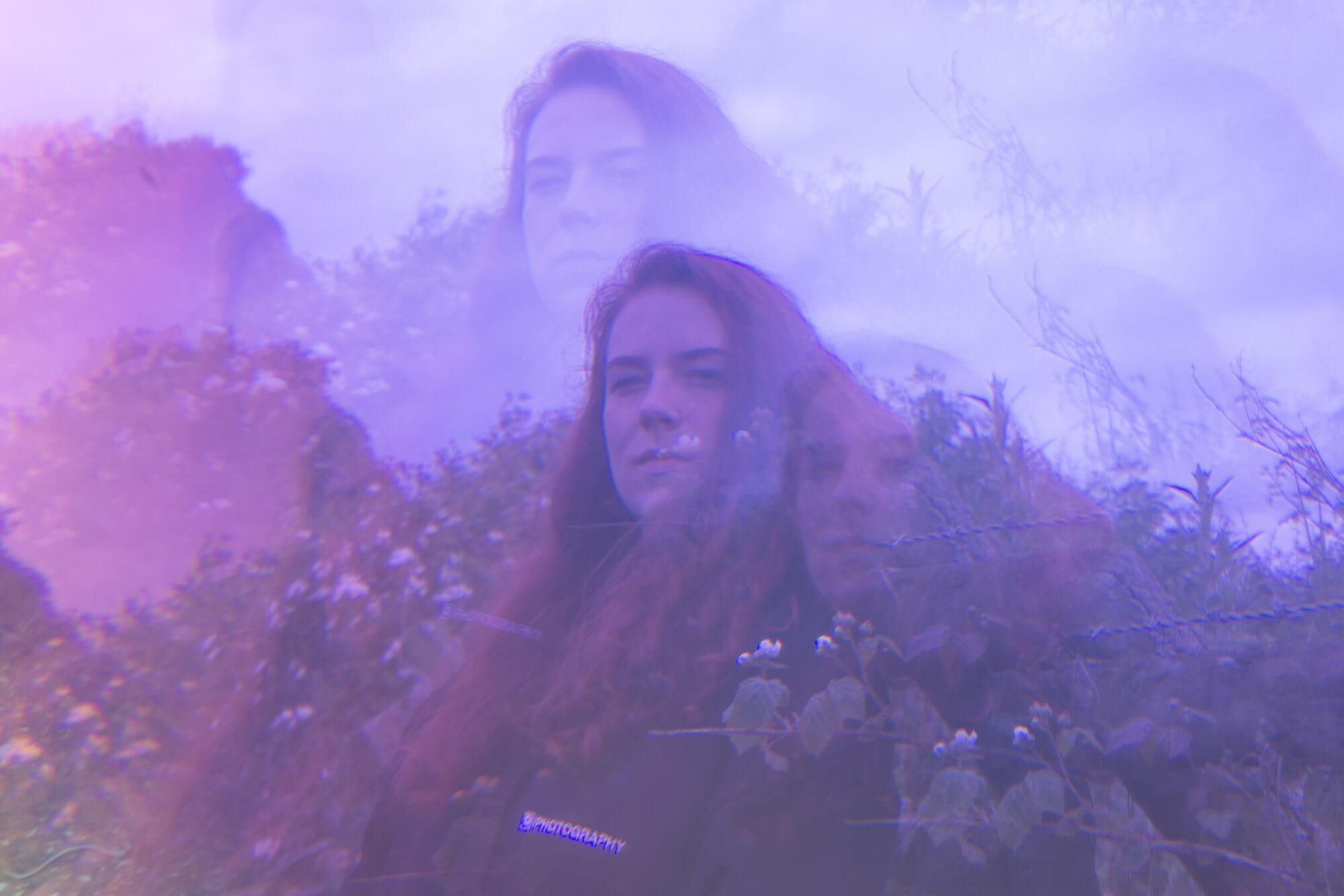 portrait fractal kaleidoscope photography purple