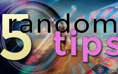 5 Random Photography Tips