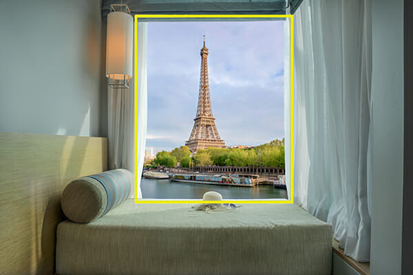frame within a frame the eiffel tower, france composition rules