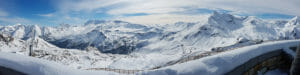 iphoneography panorama example snowy mountains