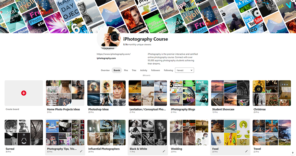 pinterest iphotography page