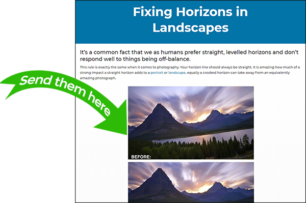 iphotography horizon blog example Feedback