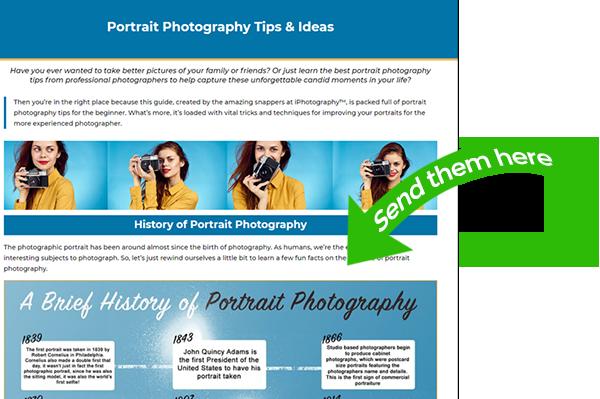 iphotography portrait blog example Feedback