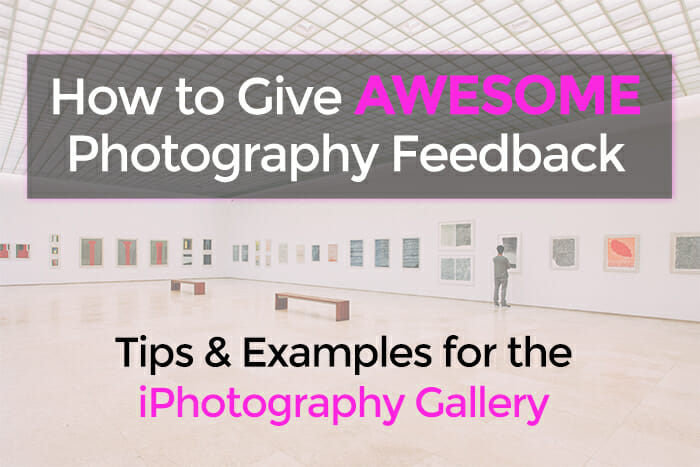 How to Give Awesome Photography Feedback