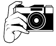hand holding cam vector
