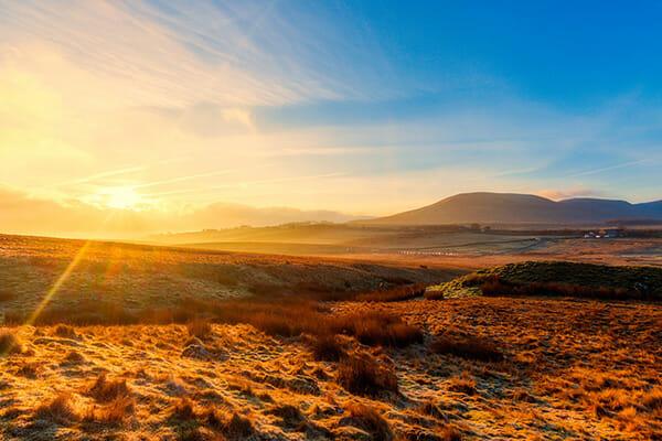 golden hour sunrise sunset landscape