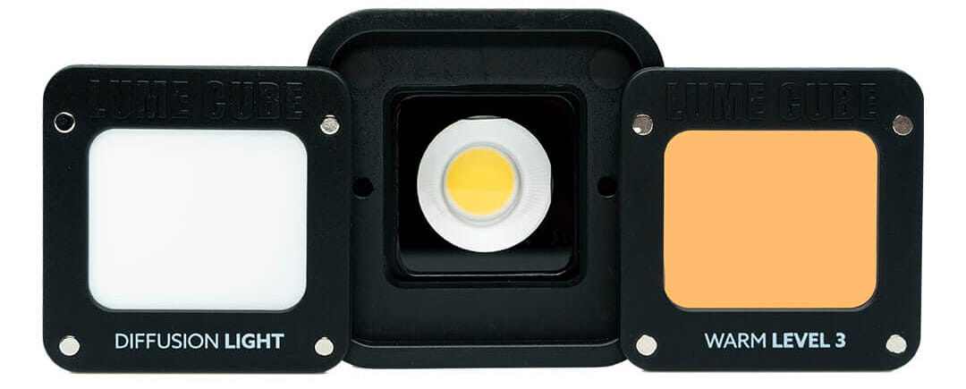 Lume Cube 2.0 light and CTO diffuser cover