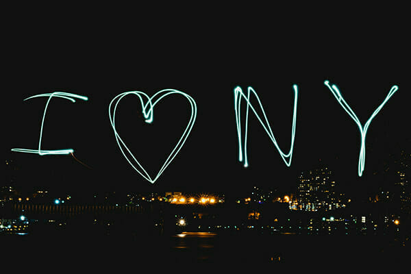 I love NY light trail