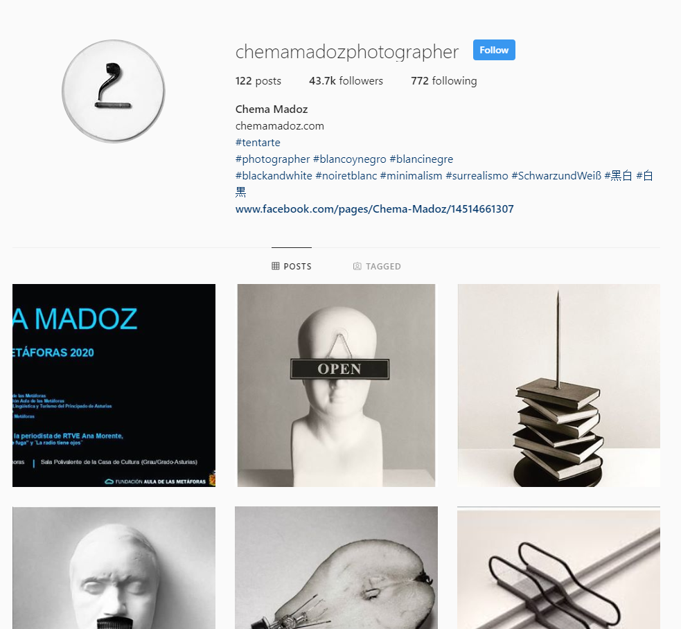 chema madoz instagram abstract photographer