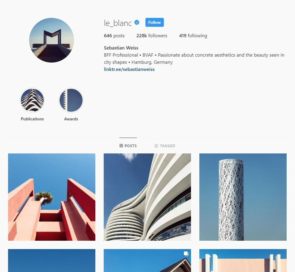 Sebastian Weiss Instagram page abstract