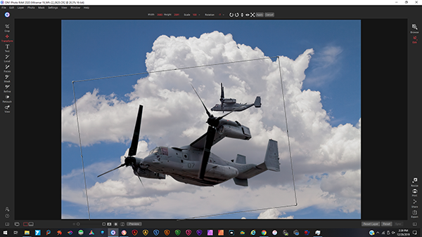 Scott Dunham Copyright 2020 Aviation photography editing screenshot 7 adding in more planes