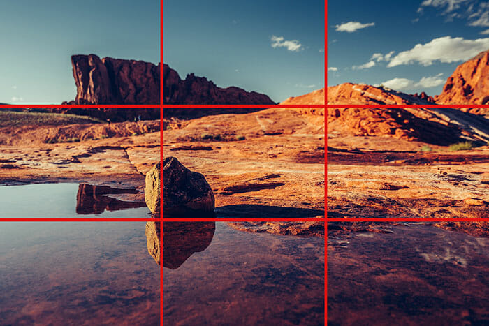 a landscape at valley of fire rule of thirds example