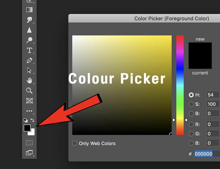 colour picker photoshop clone photography