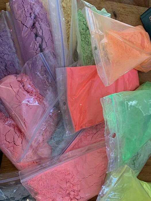 bags of holi powder