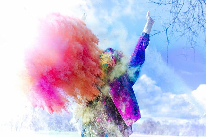 outdoor holi powder photo shoot paint powder photography