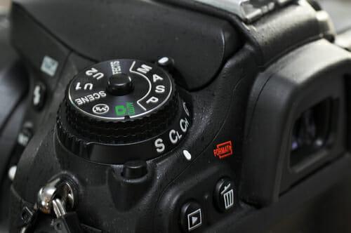 camera dial scene modes