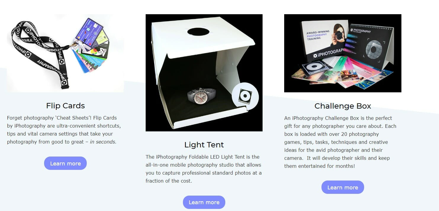 iphotography community features shop products