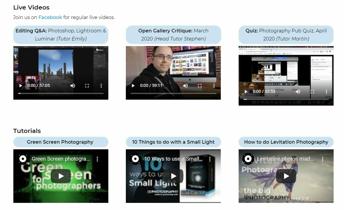 iphotography community features video library