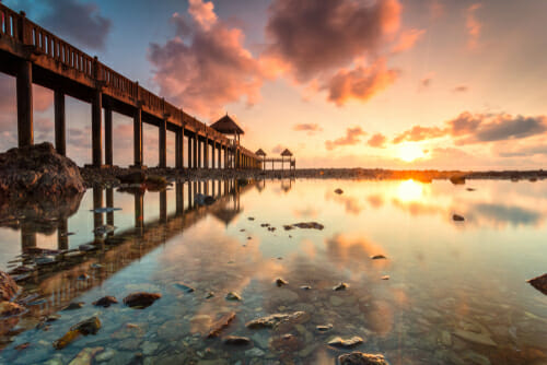 how to get the best exposure sunset beach pier iPhotography
