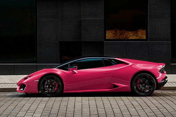 car photography blog pink lambo