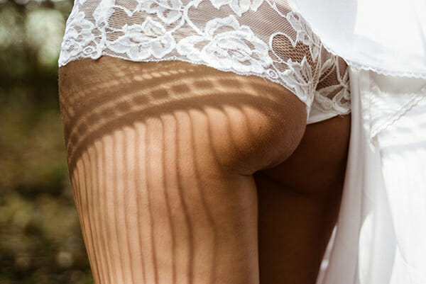 boudoir photography backside white knickers
