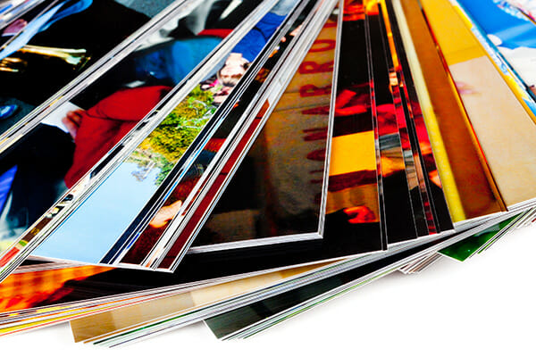 Stack,Of,The,Photos,,Isolated,On,A,White,Background.