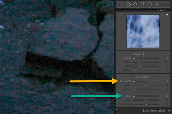 Noise Reduction Example Lightroom