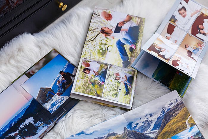 printing photos laid out in albums