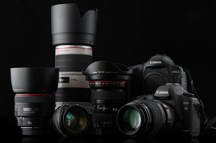 Canon lenses and camera comparison image iPhotography Course