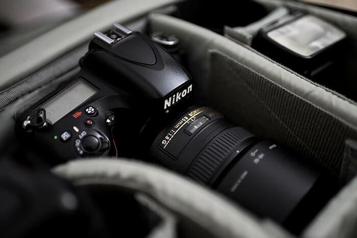 Nikon camera in camera bag iPhotography Course blog Canon v Nikon