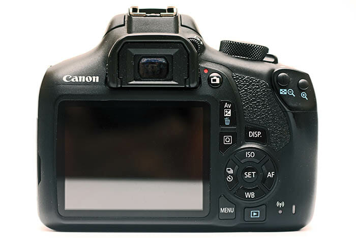 Canon Camera DSLR Button Layout Example