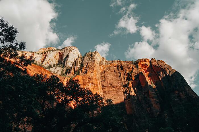 Sunrise on mountains