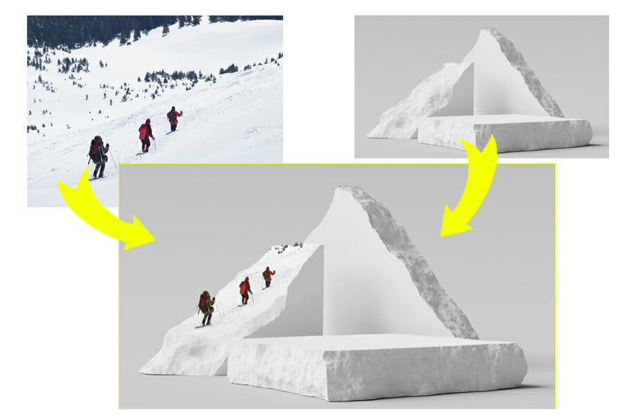 how to photoshop photos together the mountain walkers example