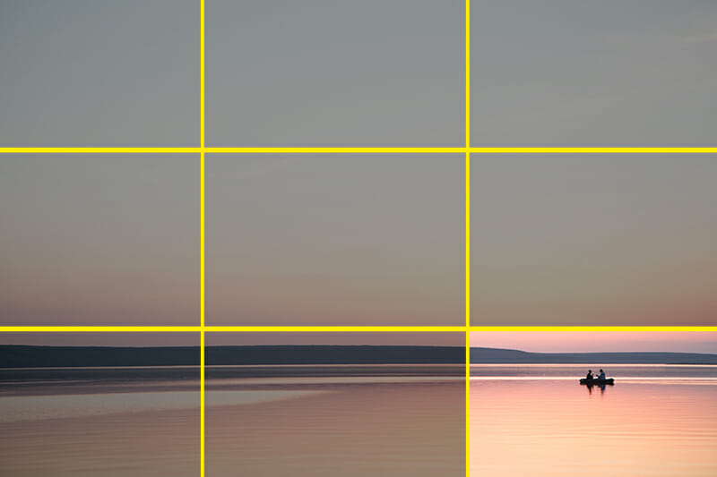 minimalist photo iphotography rule of thirds example