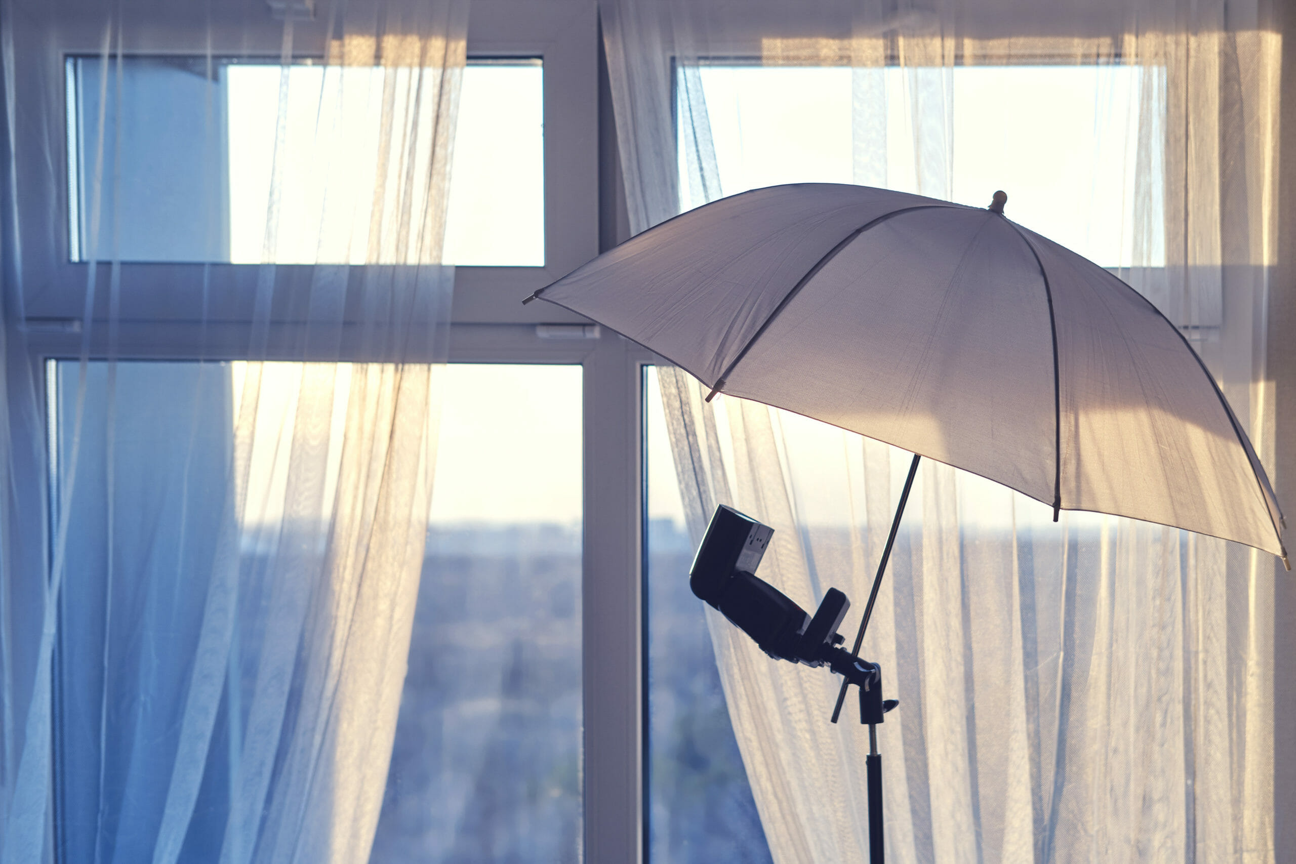 Real Estate Photography - Flash with Umbrella