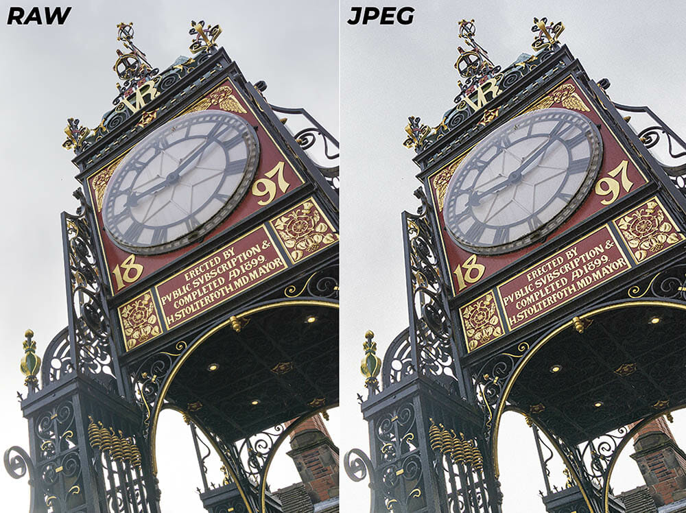 Photography for Beginners RAW & JPEG File Formats Example